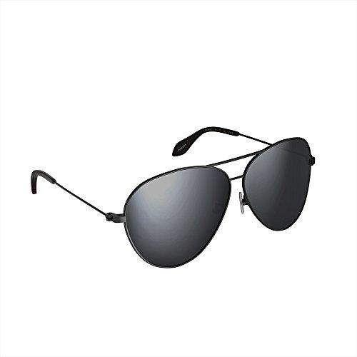 Sable Sonnenbrille Herren Damen polarisiert verspiegelt mit UV400-Schutz, Blendfreie High Definition Brillengläser, Hergestellt in 50 Verarbeitungsschritten, Umweltfreundliche Materialien Schwarz