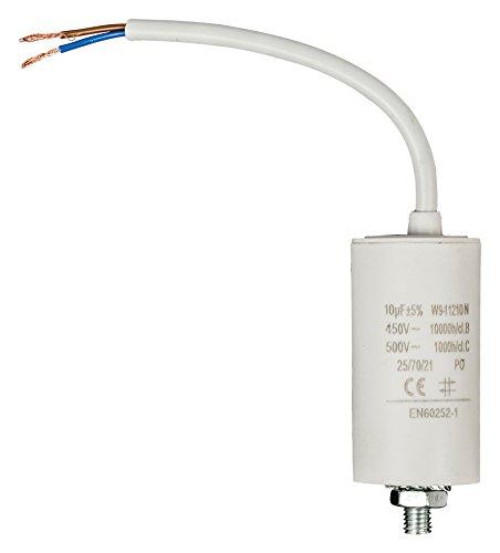 Fixapart–CAPACITOR 10.0uF/450V + Kabel (Anlaufkondensator Betriebskondensator Motor)