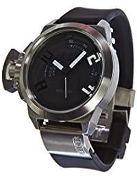 Welder K24-3001 - Reloj para hombres, correa de goma color negro