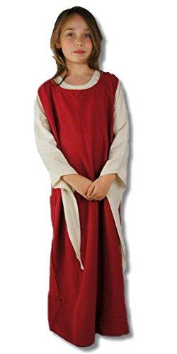 Leonardo Carbone Mittelalter Kleider kleine Maid - Kinder Marktkleid - Kinder Überkleid Diana XS/rot