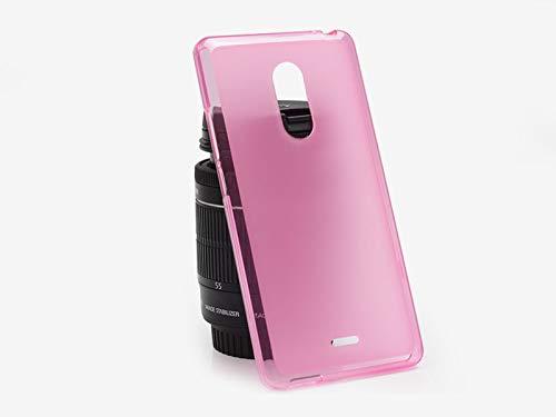 etuo Handyhülle für ZTE Blade V580 - Hülle FLEXmat Case - Rosa - Handyhülle Schutzhülle Etui Case Cover Tasche für Handy