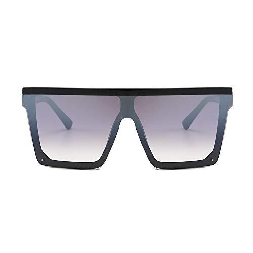 Eye-nak Black Square Shades Sonnenbrille Schwarzen Rahmen UV400 - Unisex Damen und Herren (C8)