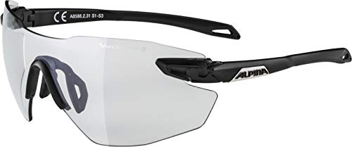 ALPINA Erwachsene Twist Five Shield RL VLM+ Sportbrille, Black matt, One Size