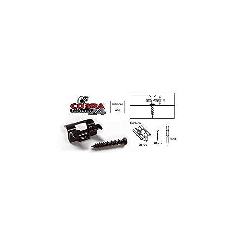 Deck-linéa - Clips Inox Cobra 24 (90 Clips + Vis