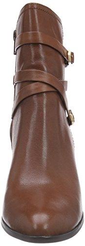 Giudecca JY1572-1 Damen Biker Boots Blau (Cognac)