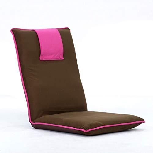 DUOER-Klappstühle Justierbarer Boden-Stuhl mit hinterer Unterstützung, gepolsterte Faltbare Lagerung für Gebrauch als Gaming-Stuhl, Meditations-Stuhl oder für das Ablesen (Color : Red)