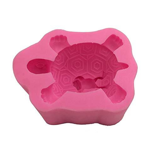 luukiy 3D Silikonform Tier Schildkröte Zurück Frosch Silikonformen Kuchen Schokoladenform Auto Dekoration Kerze Gipsform Dekoration DIY Silikonform
