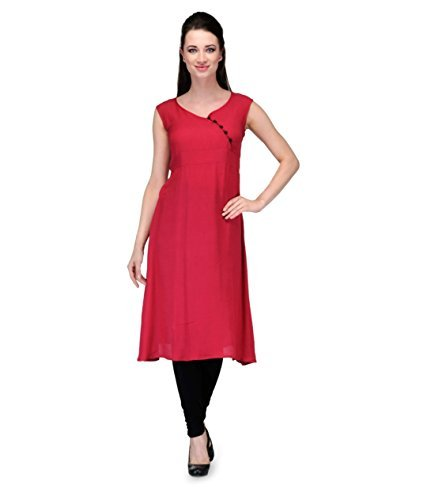 designer-red-cotton-3-4th-sleeve-round-neck-ankle-long-fabulous-kurtis-and-kurtas-gt-kvr-r2-l