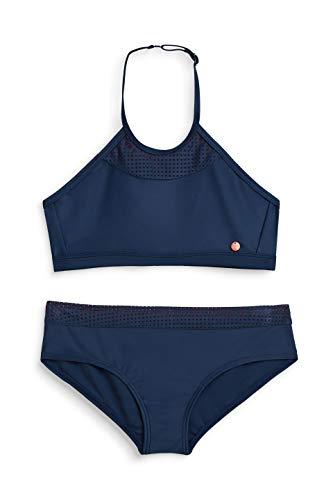 ESPRIT Mädchen Badebekleidungsset Brava Beach YG American neckho, Blau (Navy 400), 140 (Herstellergröße: 140/146)