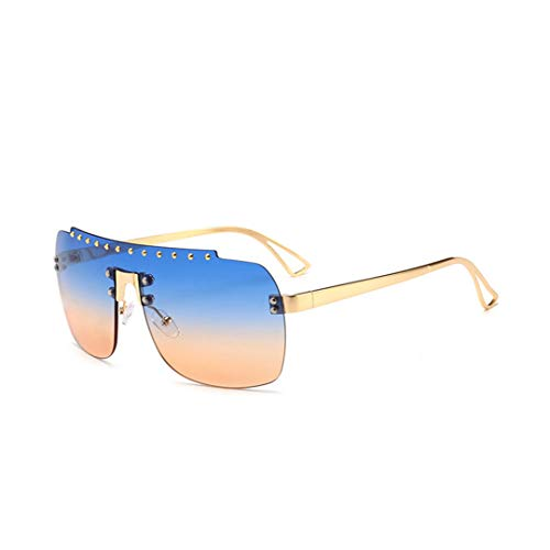 DAIYSNAFDN Persönlichkeit männlich weiblich Sonnenbrille Farbverlauf Brille Trend Flying Sonnenbrille Blue Pink