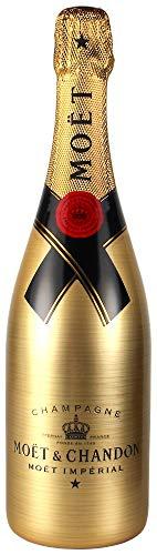 Moët & Chandon Brut Imperial Golden Sleeve Design Champagner Flasche mit Gravuroptik (1 x 0,75 l)