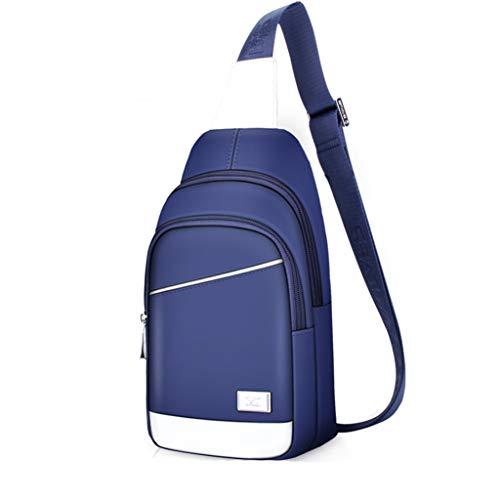 Brusttasche Herren Umhängetasche Oxford Stoff Casual Umhängetasche Große Kapazität Sporttasche (Farbe : A)