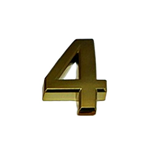 """aspire (Preis/4Golden Selbstklebend Nr. für Tür, Haus und Postfach, Verschiedene Größen, Ziffer (0–9), 4, 2\"""" H"""
