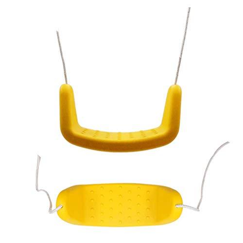 LOO LA Kinder-Kids Garden Swing Kunststoff-Swing, Wetter widerstandsfähig, Adjustable Ropes Outdoor Garden Seat,Green