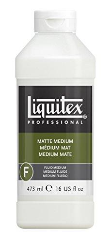 Liquitex 5116 Professional mattes Medium für Acrylfarben, verleiht Farben eine seidenmatte Oberfläche und reduziert den Glanz, flüssig - 473ml Flasche