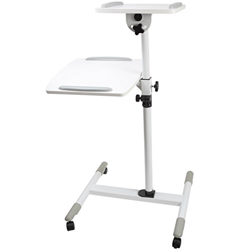 Proper Adjustable Trolley for Laptop and Projector - White Test