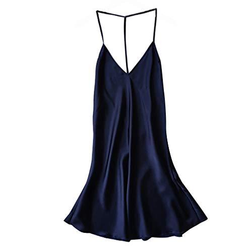 Bfmyxgs Damenmode Nachthemd Pyjamas Sexy Satin Nachtwäsche Babydoll Stilvolle Dessous Höschen Eingewickelt Brust Charmante - Playboy Bikini Kostüm