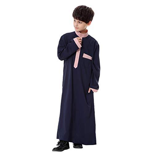 Sonnena Jungs Muslimische Kinder Langes Robe Arabische Muslime Islam Ganzkörperansicht Maxi Jersey Gebet Nahen Osten Traditionelle Kleidung