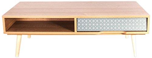 THE HOME DECO FACTORY HD3725 Table Basse avec Tiroir STOCKHOLM Bois 51.5x51.5x102 cm