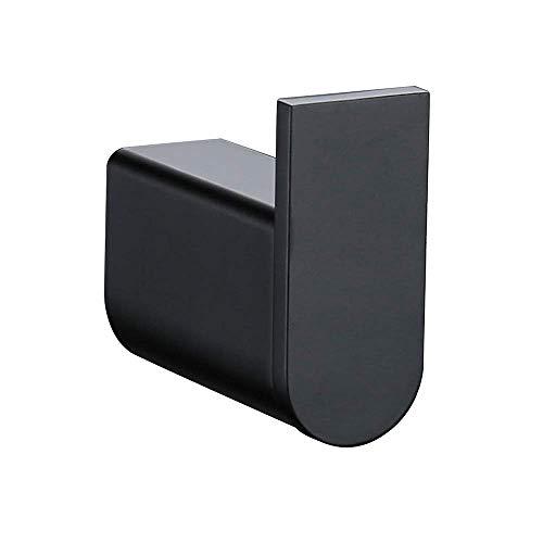 WOMAO Simple y Conveniente Toallero de Gancho Colgador para Ropa Perchero Montado en la Pared Negro Gancho Individual de Sus 304 Acero Inoxidable