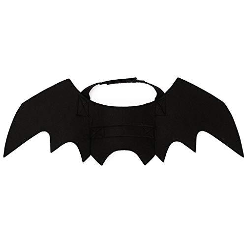 lität, kreatives Fledermaus-Kostüm für Hunde, Katzen, Welpen, Kätzchen, Flügel, Halloween, Batman-Design ()