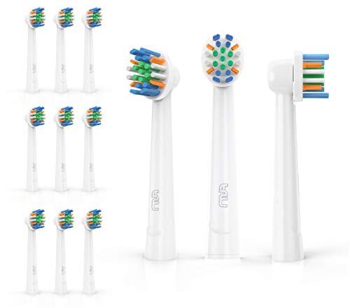 FLM FlossAction Ersatzbürstenköpfe für Braun Oral B, 12 Stück, YE625 -