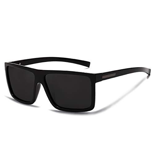 DTYZGE Herren Sonnenbrille Herren Sonnenbrillen Polarized Flat Top SonnenbrillenDriving Sonnenbrille Männlich