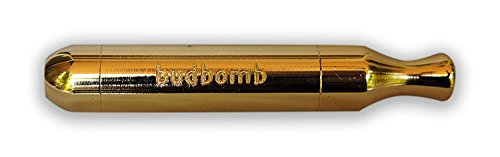 The ORIGINAL, World Famous and Patented SMOKING Tobacco Pipe BUDBOMB - GOLD