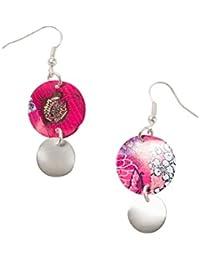 Desigual - Boucles d'oreilles pendantes - Plaqué argent - Global Traveller - 72G9EK03047U
