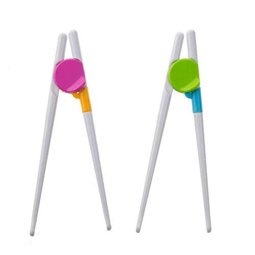 für Kinder, Erwachsene und Anfänger - 1 Paar Essstäbchen Set mit abnehmbarem Essstäbchen - für Rechts- oder Linkshänder ()