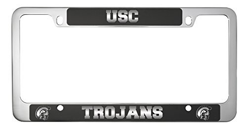 University of Southern California-Metal License Plate Frame-Black by LXG, Inc.