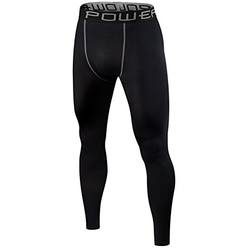 Men's PowerLayer Base Layer / Baselayer Tights Compression Leggings Pants Thermal Skins Under Gear