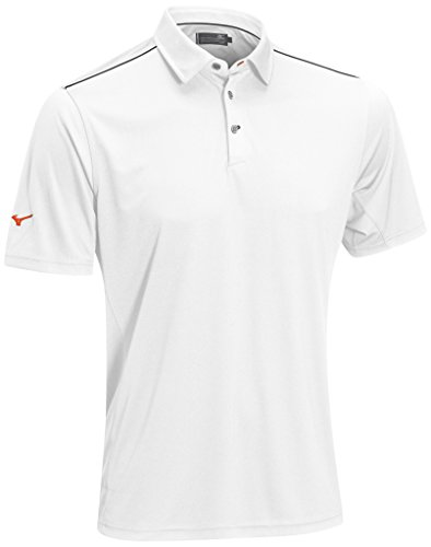 Mizuno 2015 Flat Knit Herren Golf Polo Hemd Weiß Bright White XX-Large - White Knit Polo-t-shirt