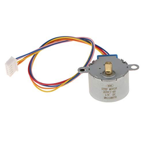FLAMEER Schrittmotor Arduino, Schritt Zu Schritt Schrittmotor DC 12V, Untersetzungsverhältnis: 1/64