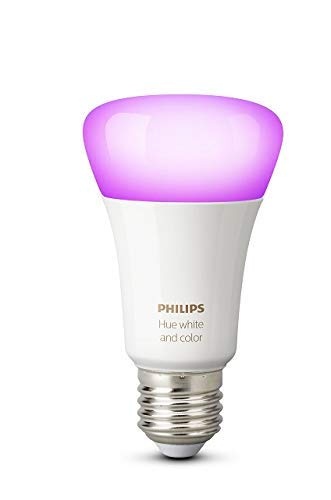 Philips Hue White and Color Ambiance - Bombilla LED E27 individual, 9,5 W, iluminación inteligente, 16 millones de colores, compatible con Amazon Alexa, Apple HomeKit y Google Assistant