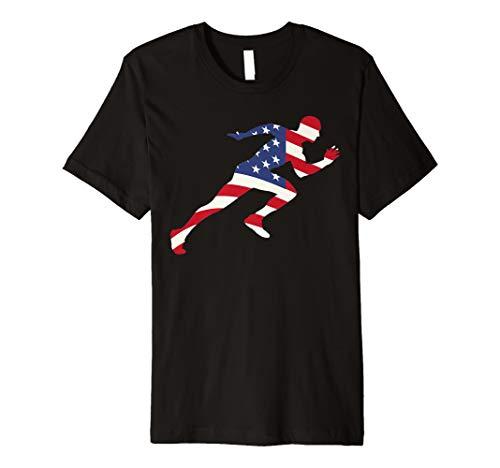 Preisvergleich Produktbild Track & Field uns Runner Shirt / Cool USA Sprinter Geschenk Tee