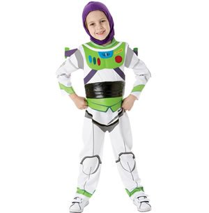 Deluxe Buzz Lightyear Boys Fancy Dress Disney Movie Large Costume