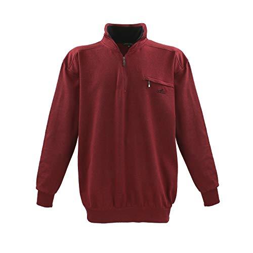 Lavecchia Sweatshirt Übergröße mit Kragen und Brusttasche von 3XL bis 8XL Bordeaux: 6XL