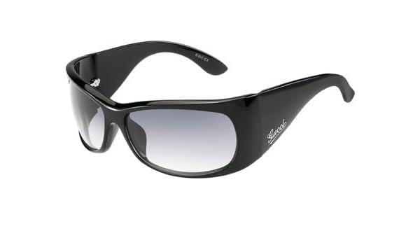 8d4e9dadf93 Gucci GG 2962 S Black 584 LF Wraparound Women s Designer Sunglasses   Amazon.co.uk  Clothing
