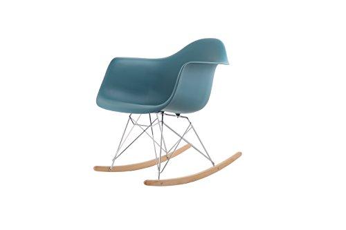 Sedia A Dondolo Rar Eames : Hnnhome poltrona a dondolo per tempo libero stile retrò ispirata