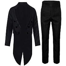 2PCs Homme Costume Magiciens Queue-de-Pie Tenue de Soirée Performance  Manteau Court à 4b5c3c2d976