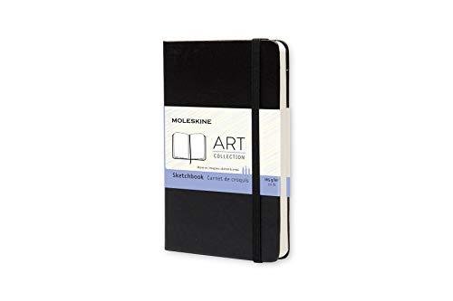 Moleskine Kreativ Notizbücher, Skizzenbuch, Pocket/A6, 165G Papier, Hard Cover, schwarz