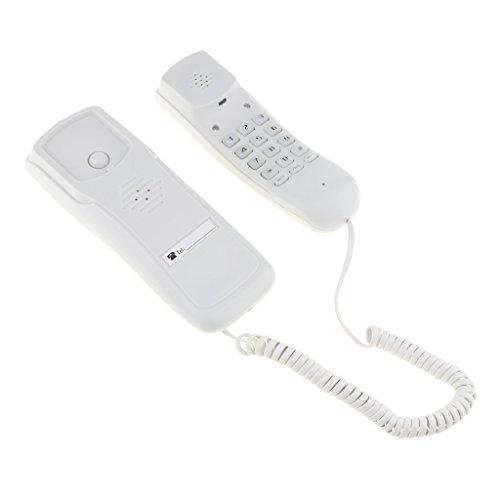 Schnurgebundenes Telefon Haus Wand Hängen Wall Schnur Telefon Festnetztelefone -Weiß (Wand-schnurgebundenes Telefon)