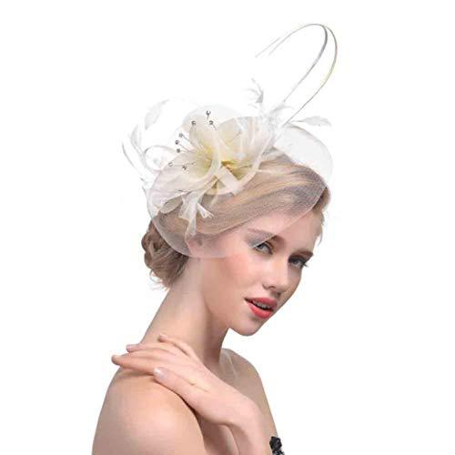 Xmiral Damen Haarband Blume Mesh Ribbons Federn Stirnband -