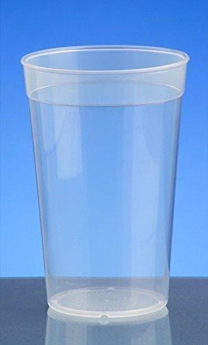 20er Set Mehrweg-Becher transparent 0,4l - Kunststoff