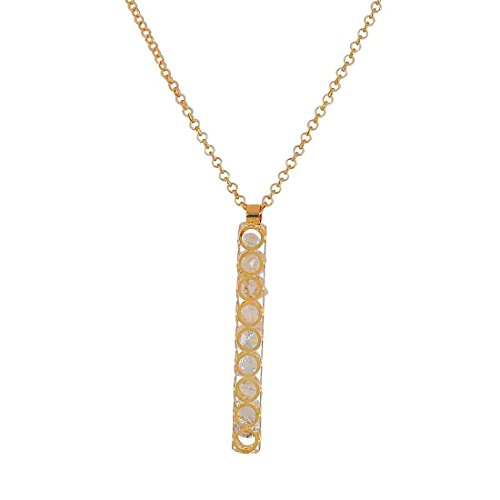 Maayra American Diamond Pendant Gold Cocktail Party Jewellery - Darling, Rhodium Plated, Brass based  available at amazon for Rs.355