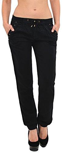 by-tex Damen Hose Leinenhose Pumphose Damen Sommerhose - über 10 aktuelle Farben H02