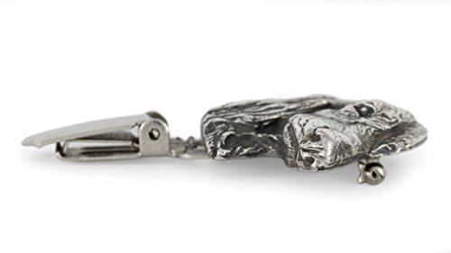 Teckel , Dackel ( langhaarig ), Silberstempel 925, Hund clipring, Hundeausstellung Ringclip/Rufnummerninhaber, limitierte Auflage, Artdog -