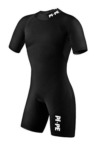 PI-PE Herren Neoprenanzug Pure, Schwimmanzug, Tauchanzug, Shorty (Schwarz, L)