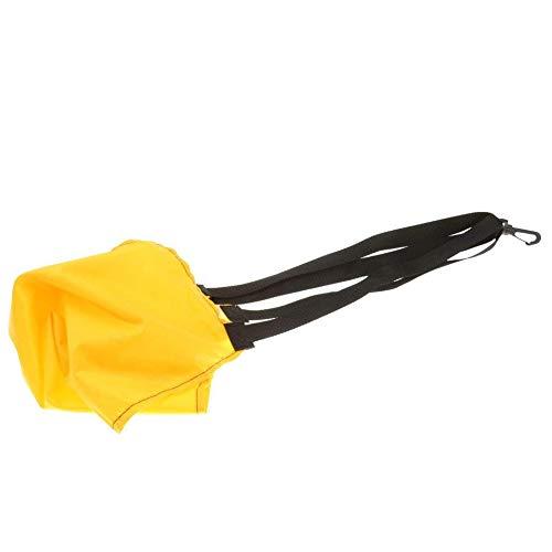 DOMIRE Schwimmen Widerstand Drag Parachute Schwimmtraining Exerciser Universal-Widerstand-Fallschirm Schwimmzubehör (Gelb)